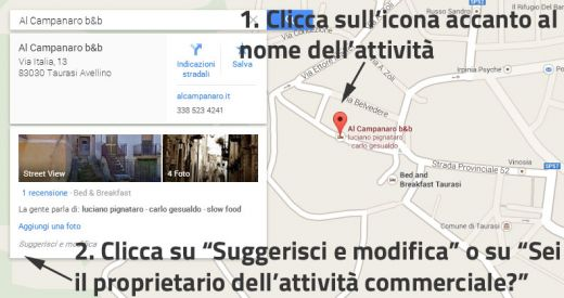 Come modificare le informazioni su Google Maps
